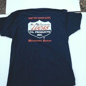 Vtg Lucas oil tee-shirt